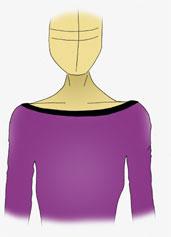 U-Boot Ausschnitt, Figur, Beratung, T-Shirts, Tops